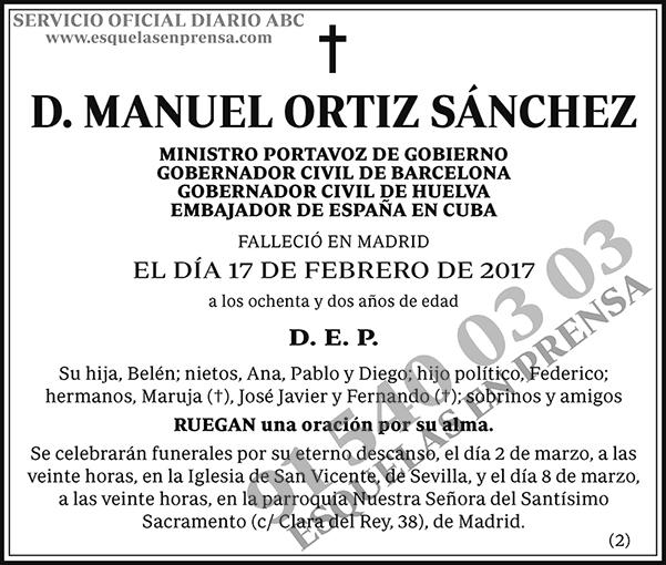 Manuel Ortiz Sánchez